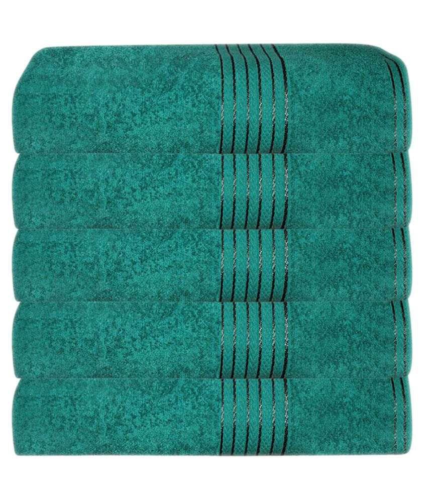 Grj India Set Of 5 Cotton Bath Towel