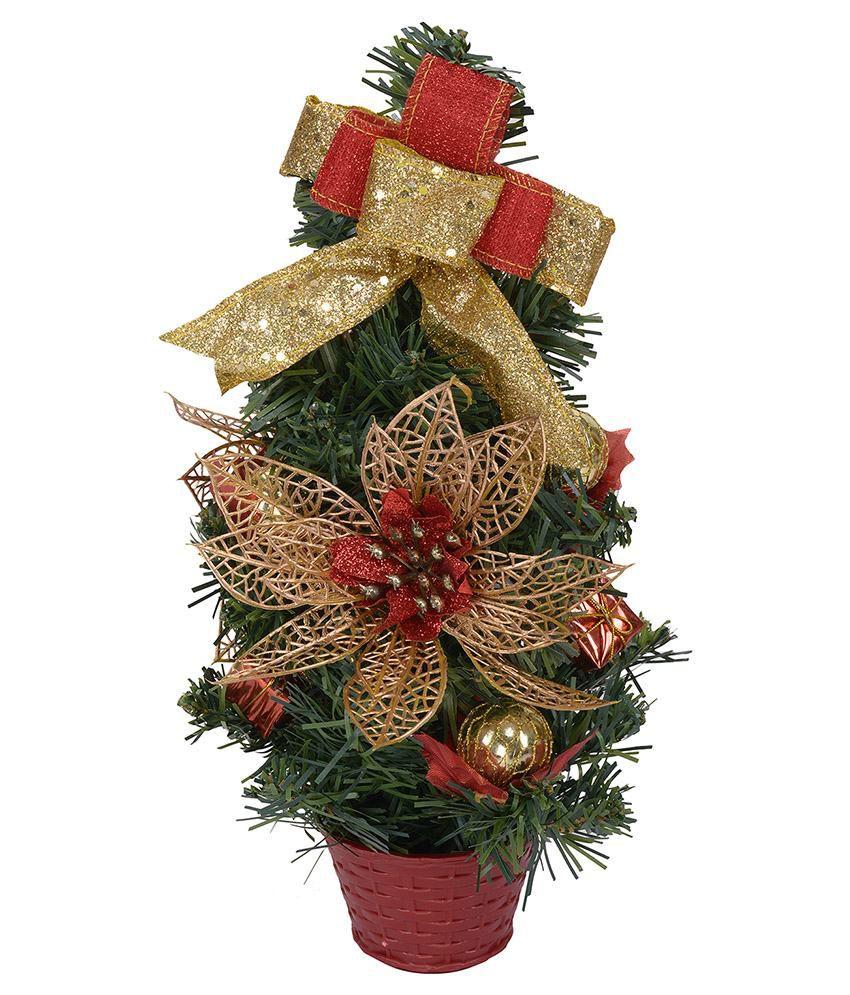 Buy Christmas Tree India: Aapno Rajasthan Green Christmas Tree Showpiece-1 Ft: Buy