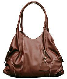Fostelo Brown Faux Leather Shoulder Bag