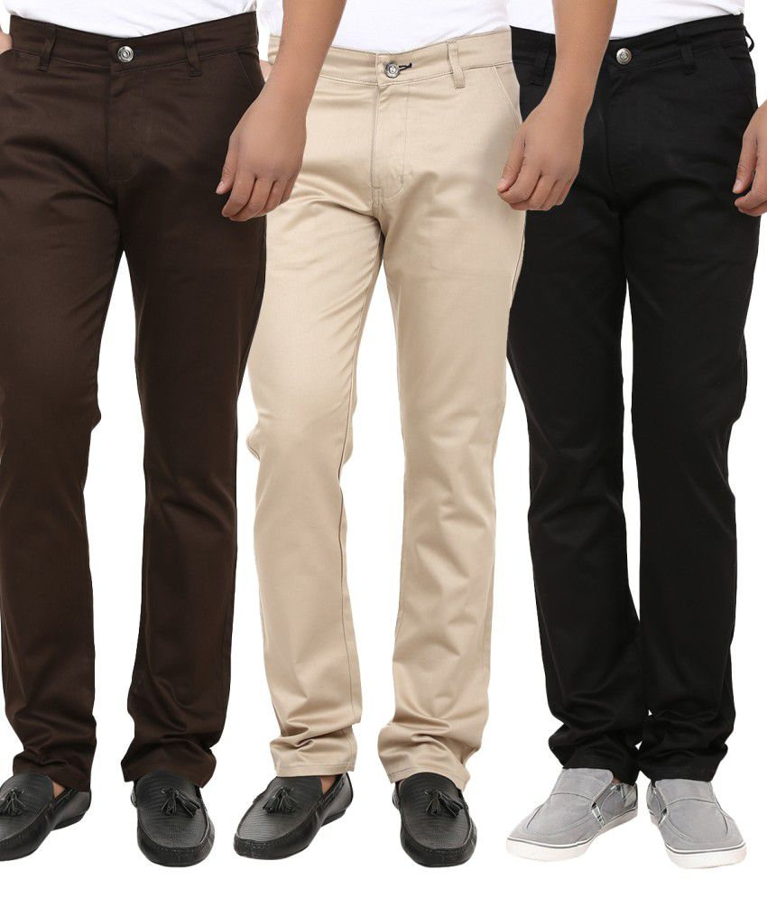 Alan Woods Multicolour Slim Fit Casuals Chinos