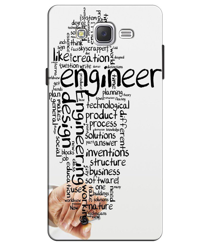 EU4IA Engineer Inspiring Typography Design Quotes Pattern 3D Back Cover Case For SAMSUNG GALAXY J5 D368