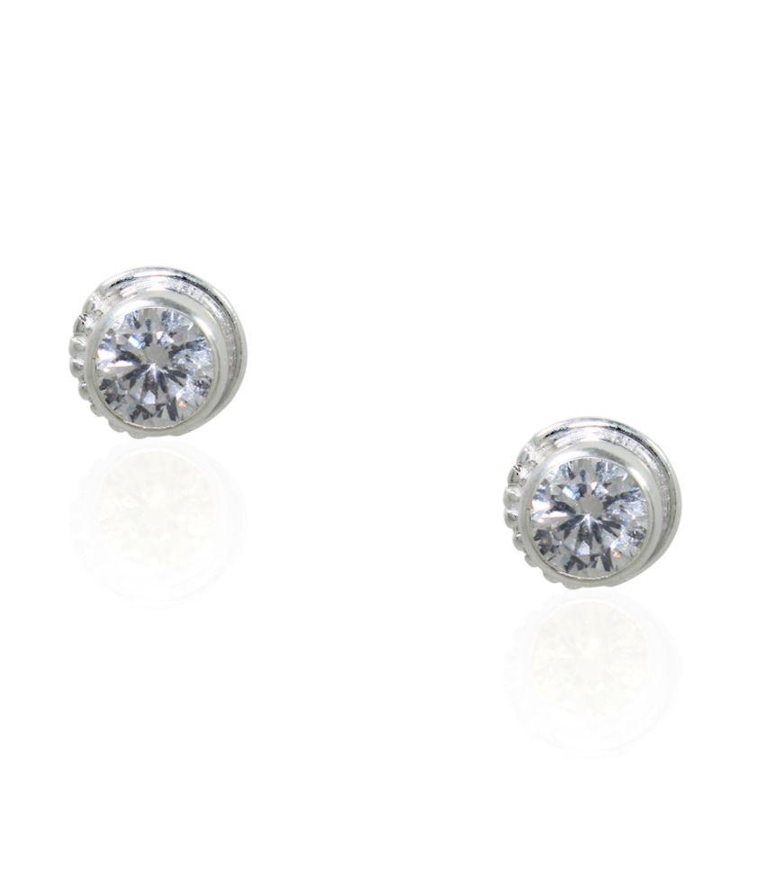 Frabjous Silver Stud Earings