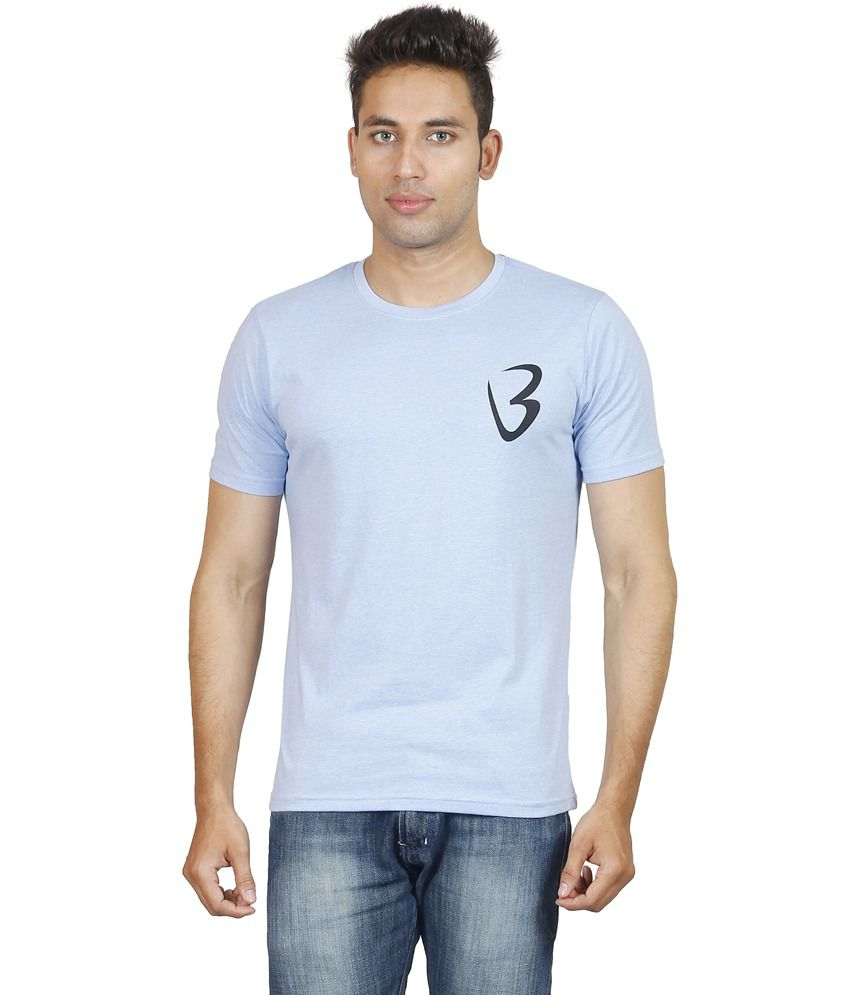 Being Odia Blue Cotton T-Shirt