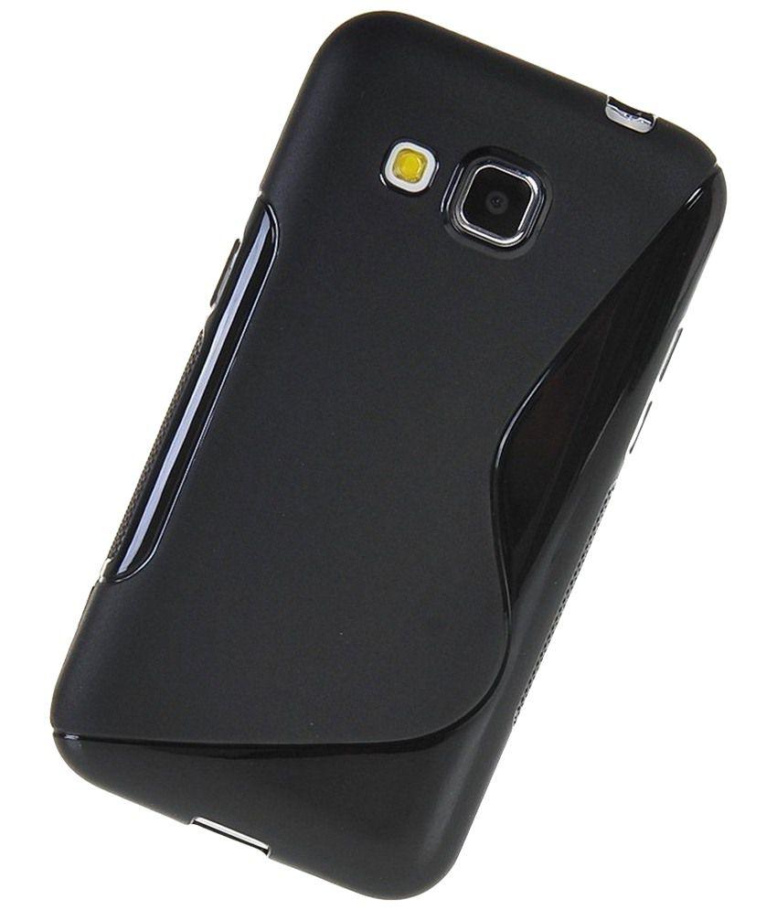 S Case Black Grip Back Cover For Samsung Metro B350e