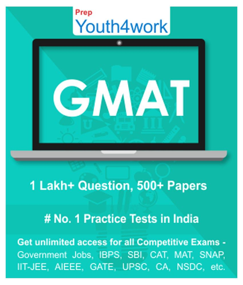 Youth4work GMAT Practice Tests Prep Unlimited Access 500 topic wise tests  for All Competitive Exams