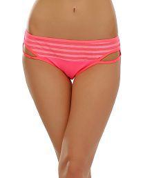 Clovia Bikini With Jacquard Design In Midnight Dark Pink