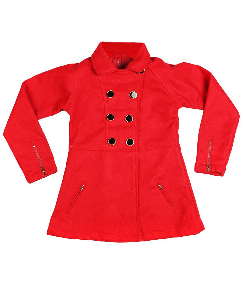 Allen Solly Red Full Sleeve Coat