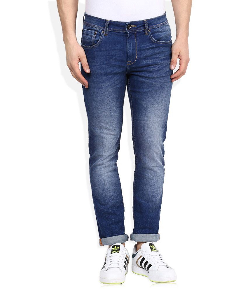 Being Human Blue Light Wash Slim Fit Jeans