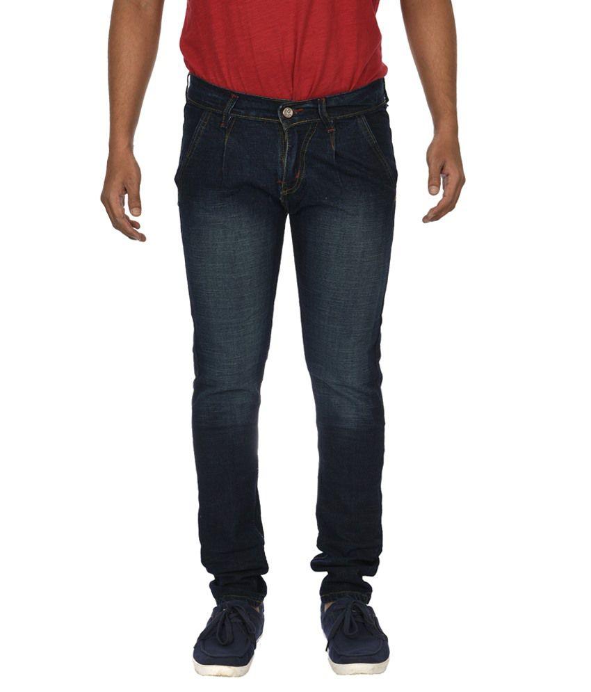 D-coral Blue Slim Fit Jeans