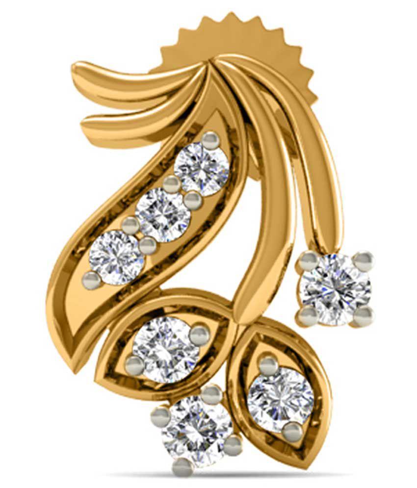 Diaonj Diamonds 18kt Golden Tropical Cluster Studs