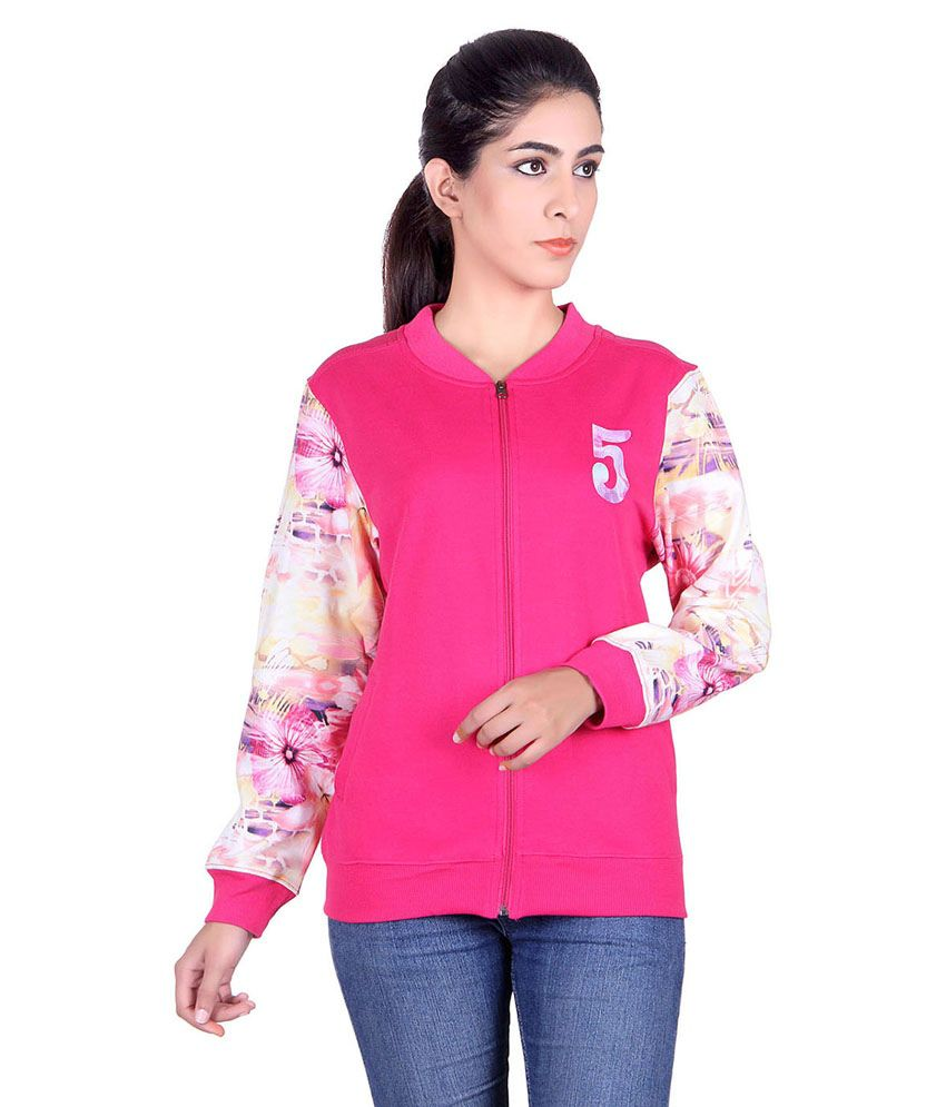 Buy Kaily Women s Pink Winter Sweatshirt Online at Best Prices in ... 627f176be