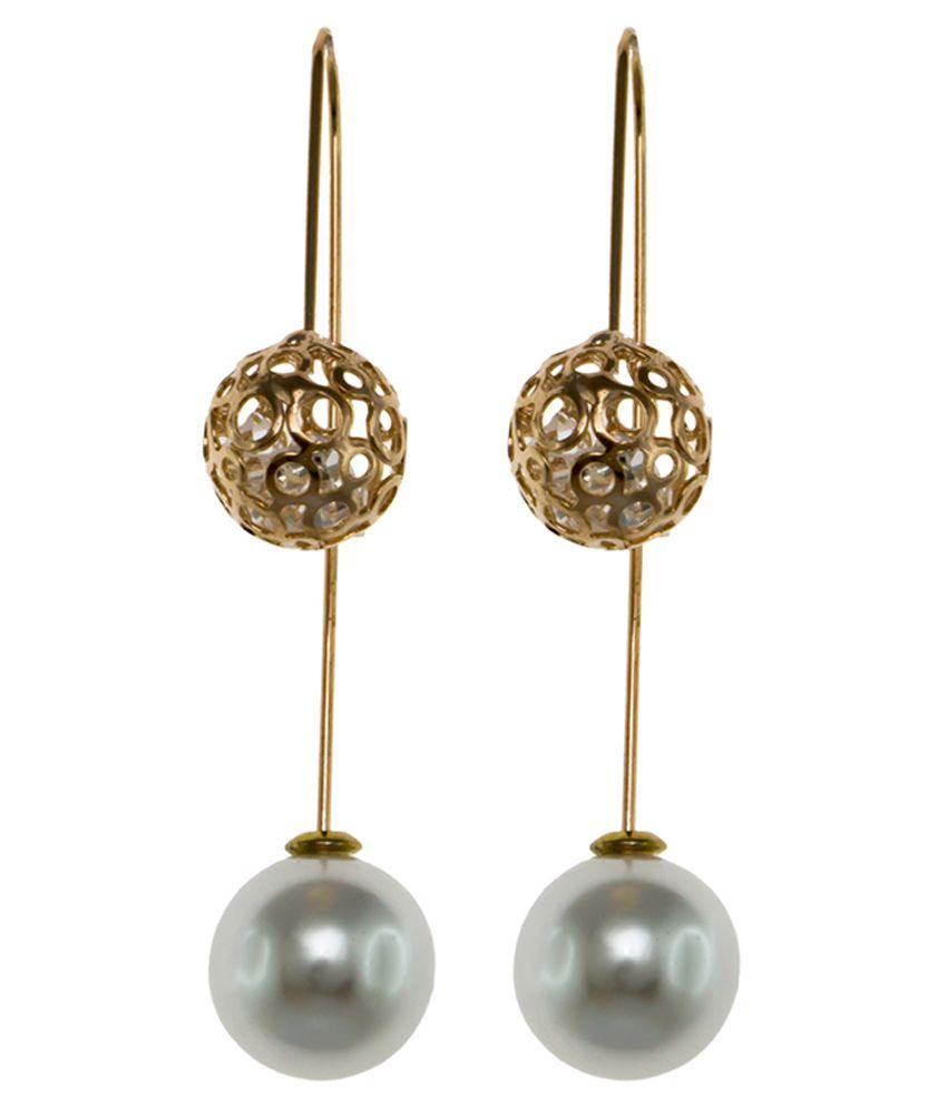 Krafftwork Silver Antique Studded Earrings