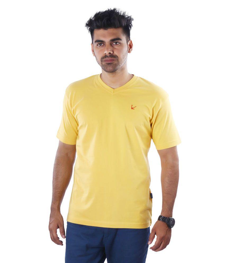 Mrtees Yellow Cotton T Shirt