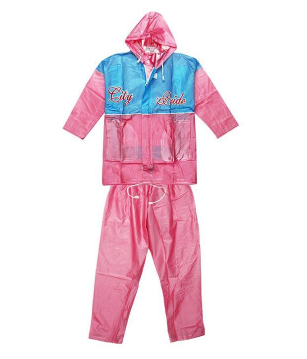 Ollington St. Collection Pink & Blue Rain Coat
