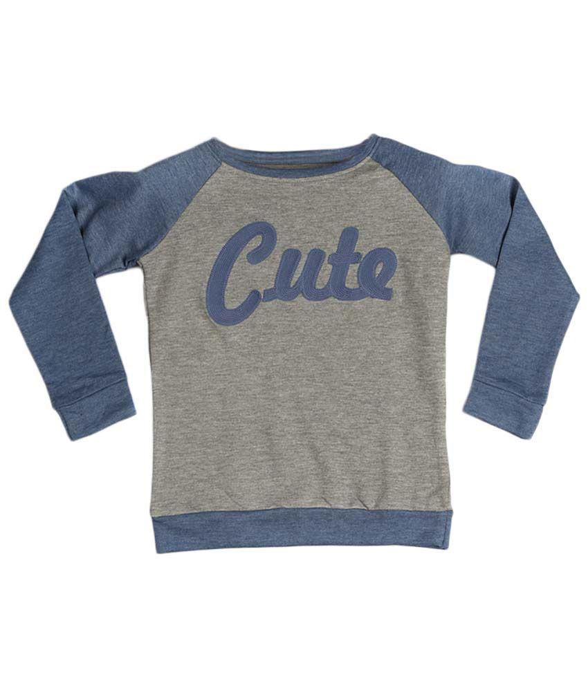 People Gray & Blue Sweatshirt
