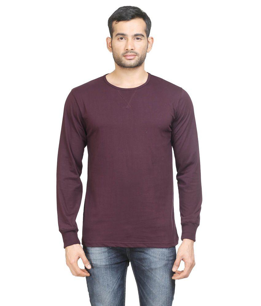 Poshuis Purple Cotton T-Shirt