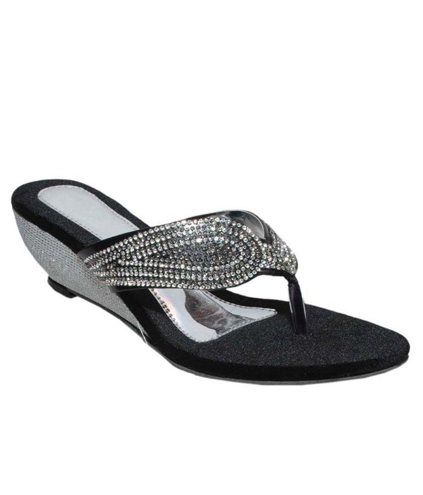 Blackwood Black Heeled Slip-Ons