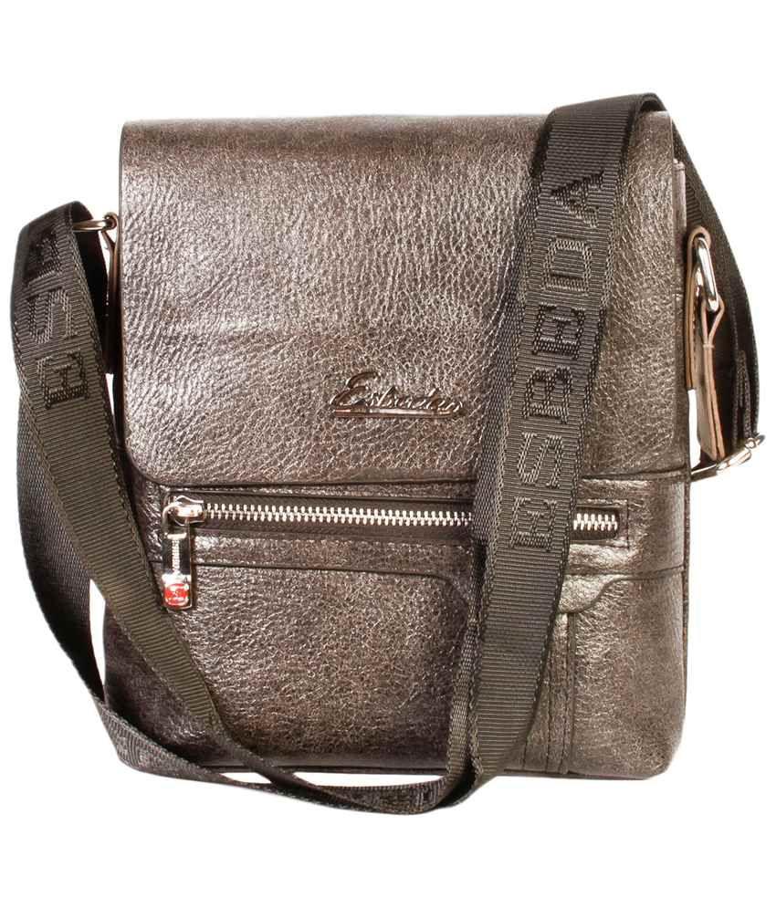 Esbeda Gray PU Sling Bag for Men - Buy Esbeda Gray PU Sling Bag ...