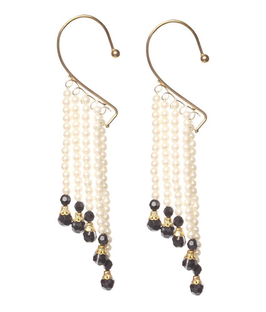 Ushine Jewels Black Brass Ear Cuffs