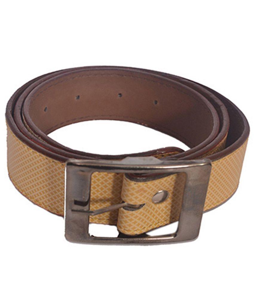 Aam Shooping Beige Formal Single Belt For Men
