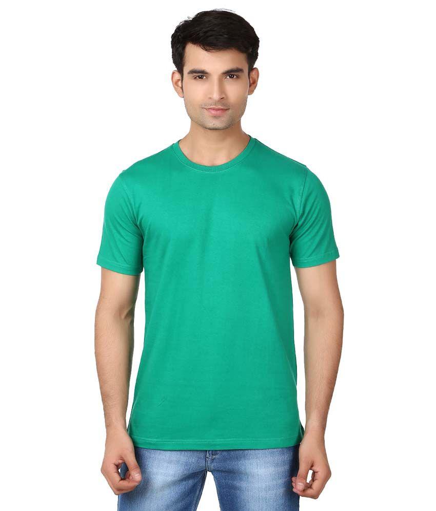 V3squared Green Cotton Blend T-shirt Pack Of 5