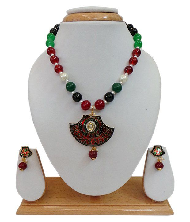 Charvee Multicolour Traditional Necklace Set