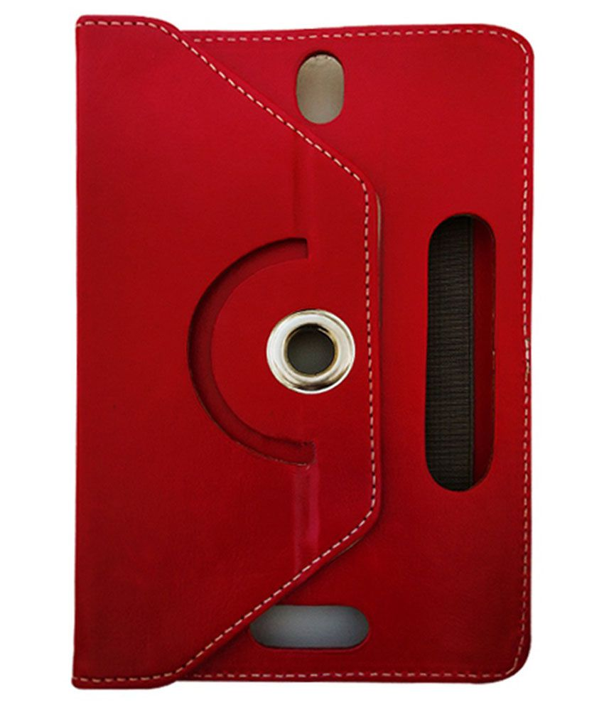 Fastway Flip Cover For Karbonn Ta-Fone A-34 HD - Red