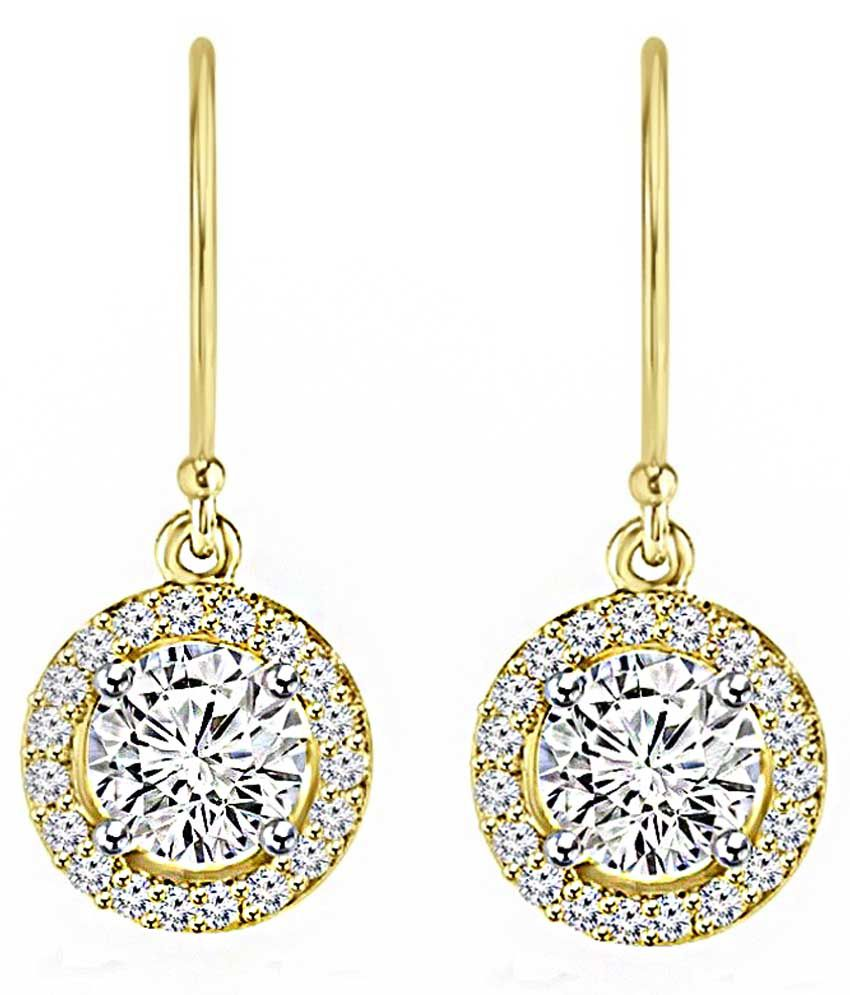 Fiona Solitaires 18kt Gold Drop Earrings