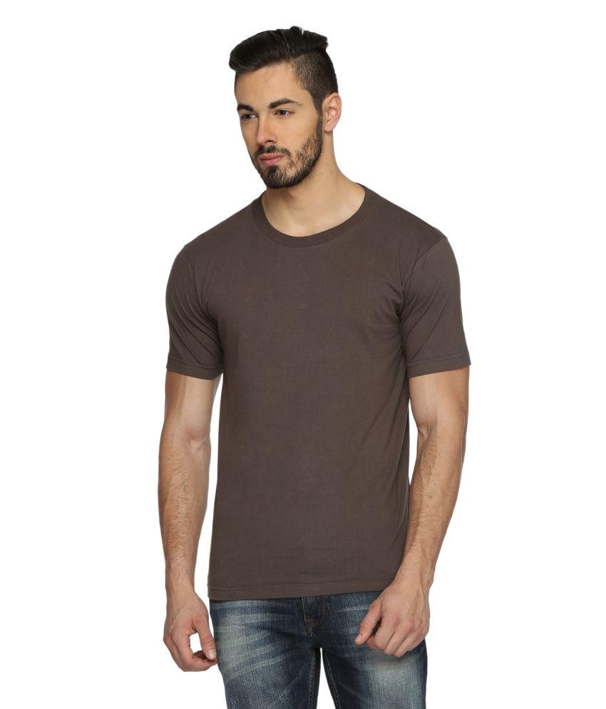 Youthen Brown Cotton T-Shirt
