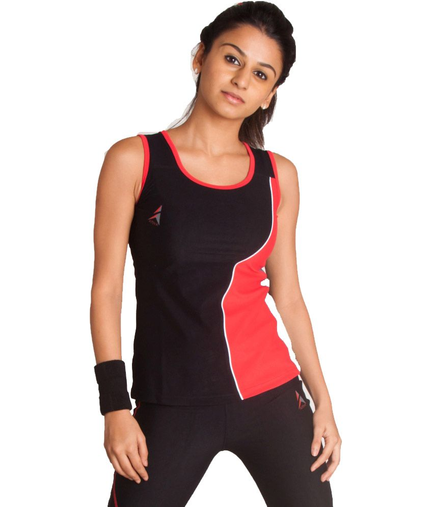 Buy Attiva Women s Gym wear Sleeveless T-Shirt of Carvico Italian Fabric  Online at Best Prices in India - Snapdeal 642937168