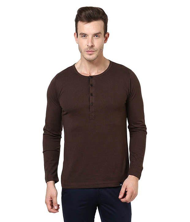 Bukkl Brown Cotton T-shirt