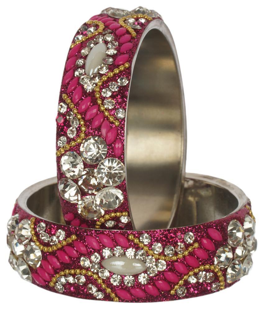 Nice Pink Bridal Designer Bangles