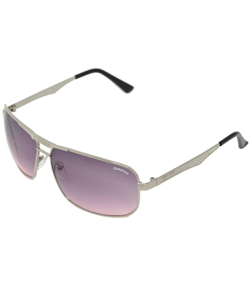 Sun Trance Pink Medium Oval Sunglasses For Men