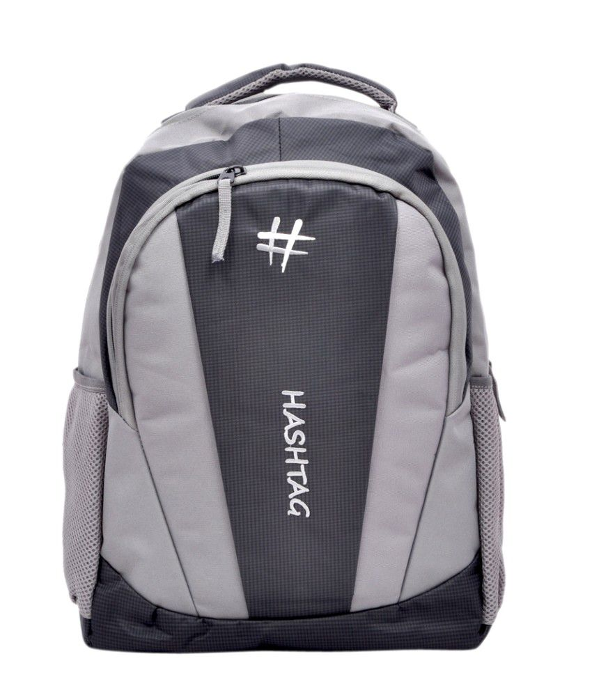 Hashtag Black And Grey Backpack