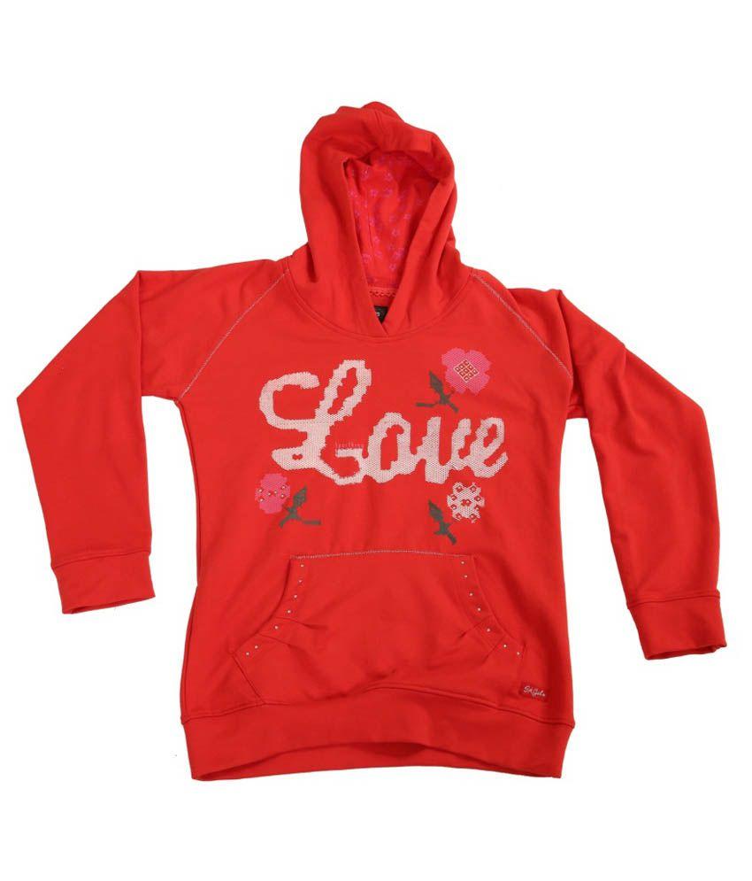 Sportking Printed Hooded Girls Sweatshirt