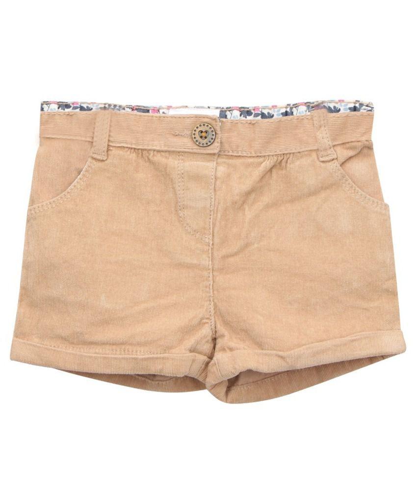 Eimoie Beige Corduroy Shorts