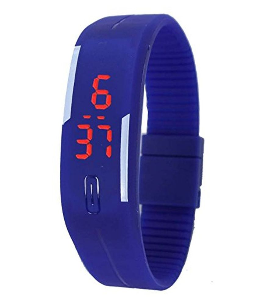 Pappi Boss Pappi Boss Blue Jelly Slim Digital Watch for Boys