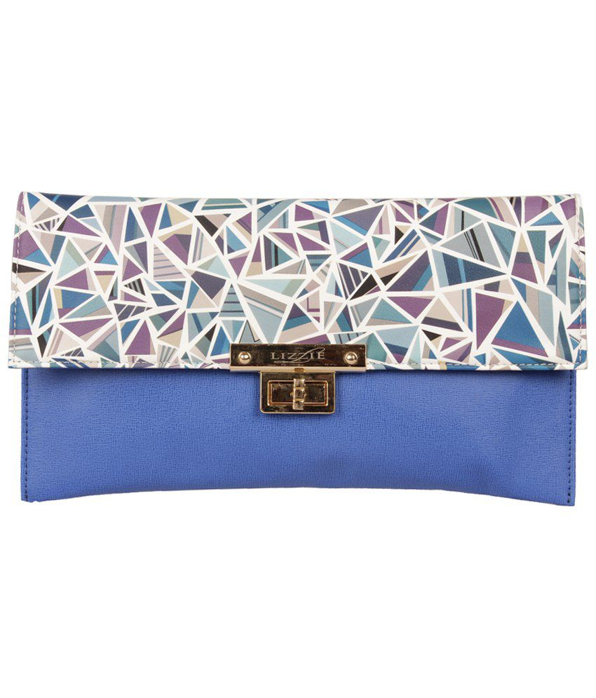 Lizzie Purple & White Contemporary Clutch