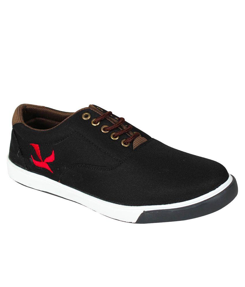 Hansx Black Canvas Shoes - Buy Hansx