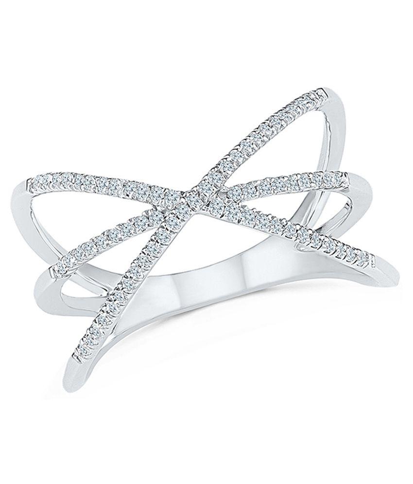 Radiant Bay White Gold 18Kt EGL Certified Ring