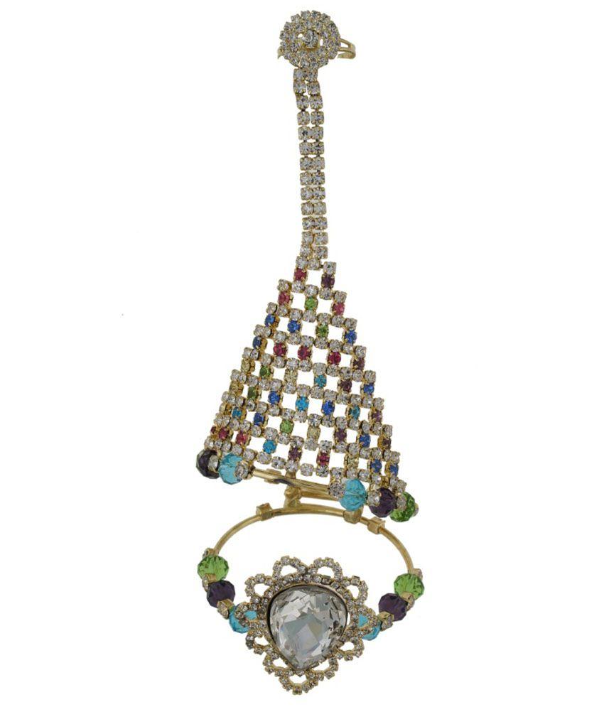 Deccan Jewels Multicolour Brass Cuff