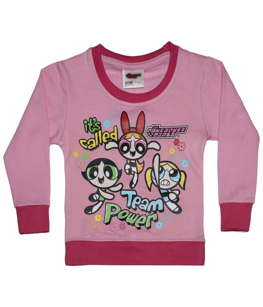 Power Puff Girls Pink & Blue Full Sleeve Sweatshirt