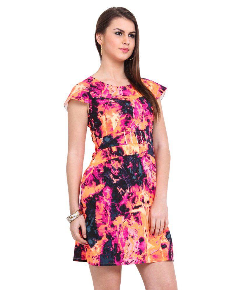 76 off on sweet lemon multi crepe dresses on snapdeal. Black Bedroom Furniture Sets. Home Design Ideas