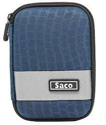 Saco External Hardisk Hard Cover For WD Elements 2TB USB 3.0 Portable Hard Disk - Dark Blue