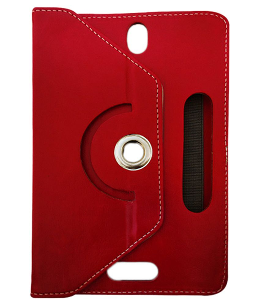 Fastway Flip Cover with Stand for Zync Z99 2G Calling Tab - Red