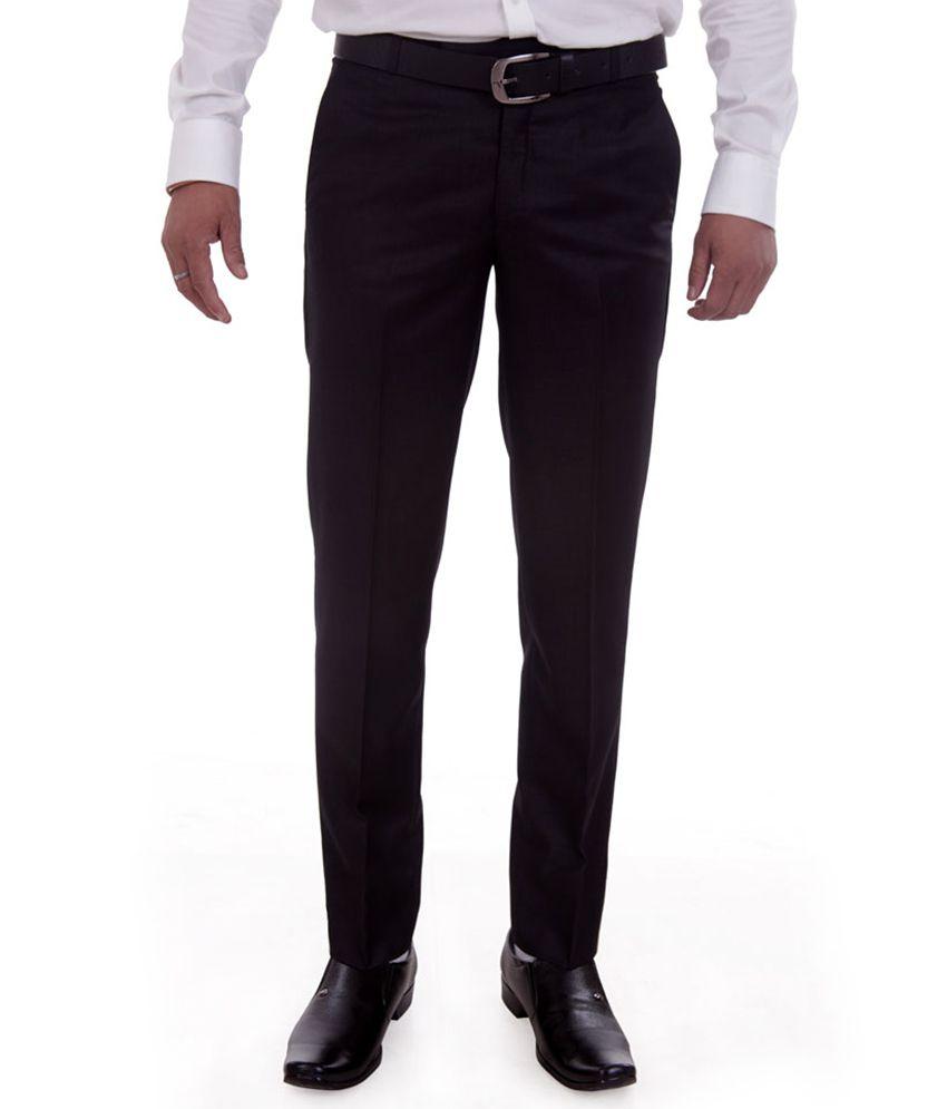 Granite Black Regular Fit Formal Trouser