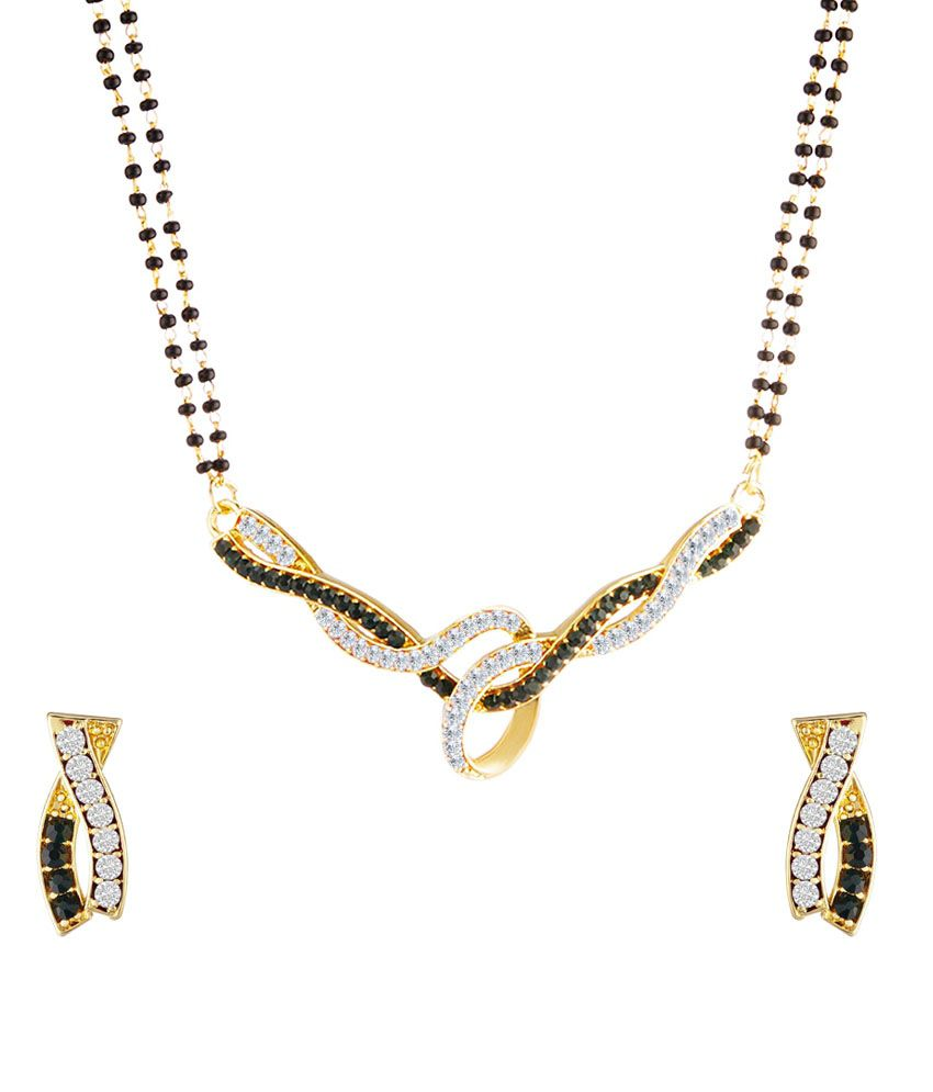 Oviya Gold Plated Alloy Contemporary Mangalsutra Set
