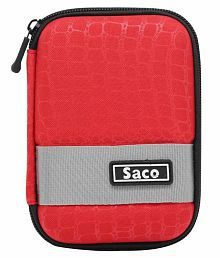Saco External Hardisk Hard Case For Seagate Expansion 1TB Portable External Hard Drive - Red