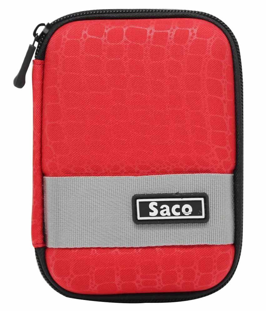 Saco External Hardisk Hard Case For Hitachi Touro 500gb Usb 30 Disk Red