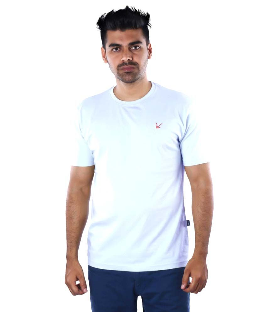 Mrtees Blue Cotton T-shirt